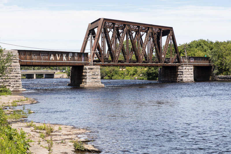Canadian National Railways bridge over the Moira River