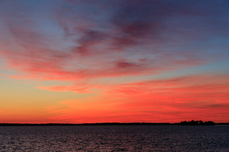 Sky before sunrise over the Bay of Quinte
