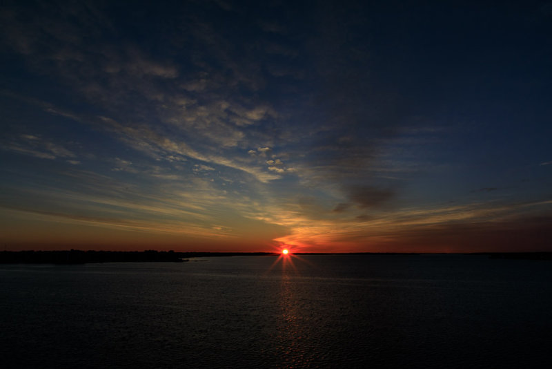 Sunrise down the Bay of Quinte