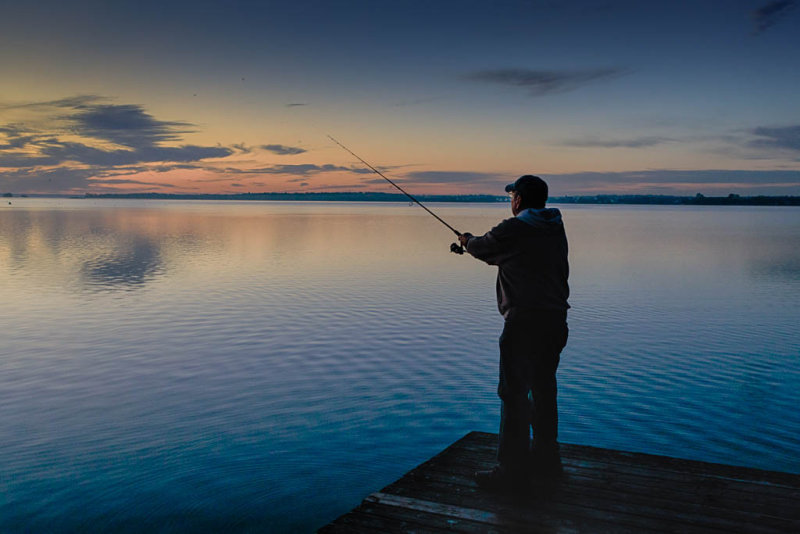 Fishing at the Herchimer Boat Launch 2017 October 22nd