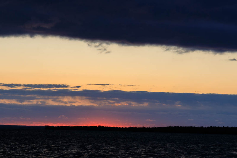 Sky before sunrise over the Bay of Quinte 2017 October 25th