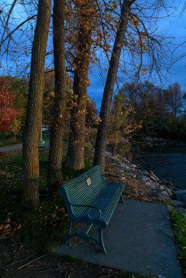 Memorial bench near Turtle Pond