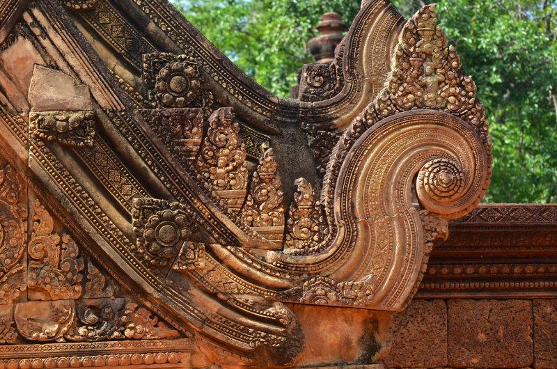 Carving Work Details - Banteay Srei