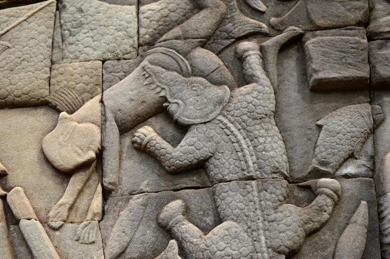 Bas-relief at Bayon