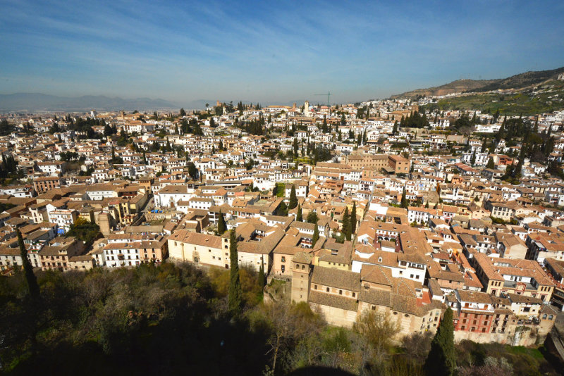 Albayzín seen from the Alcazaba