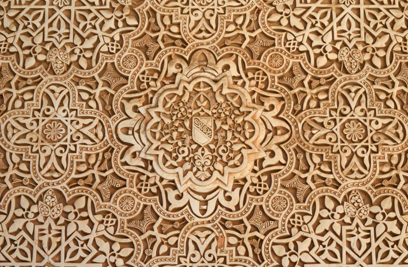 Decoration in plaster