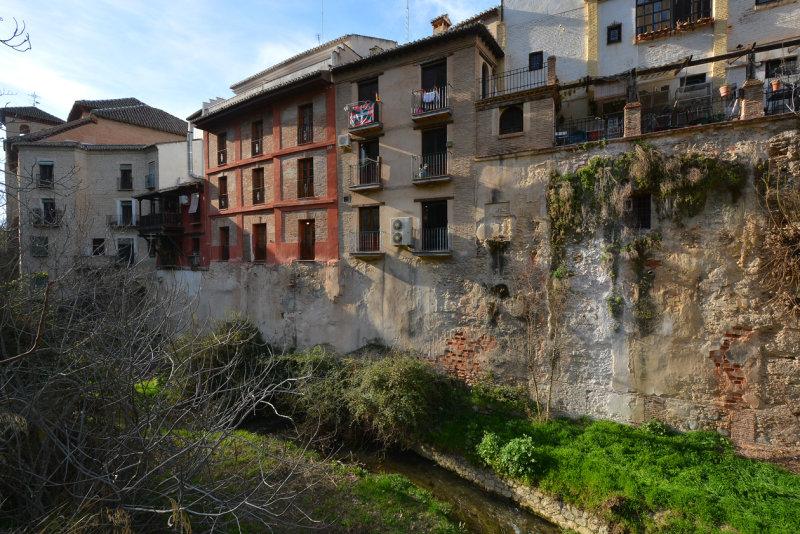 Houses over the Darro River - Granada