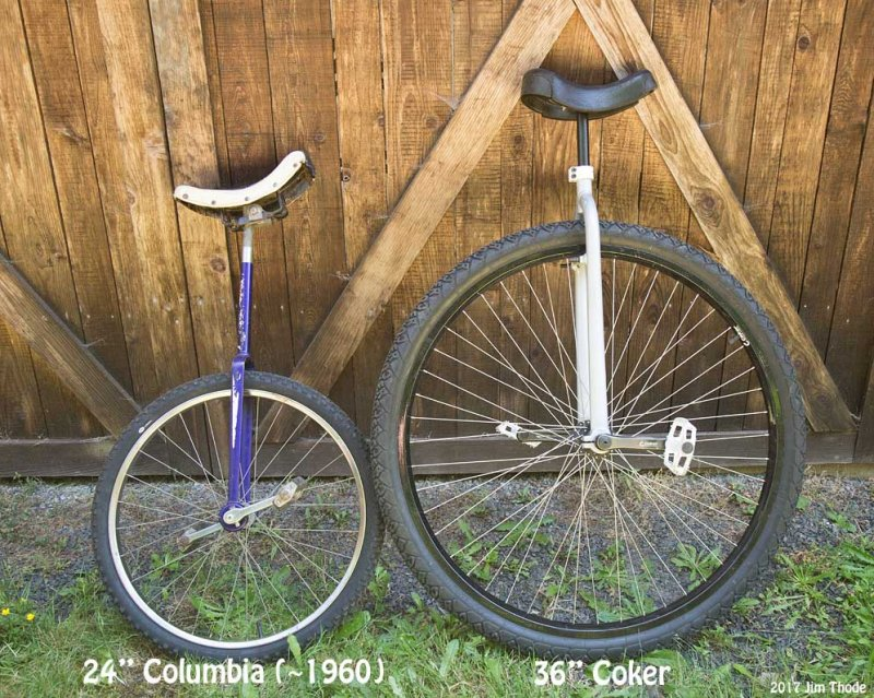 Columbia and Coker Unicycles