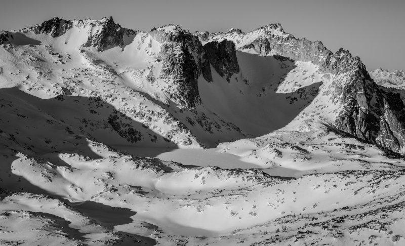 Dragontail Plateau, Looking Northwest<br>(StuartEnchantments_120717_172-5.jpg)