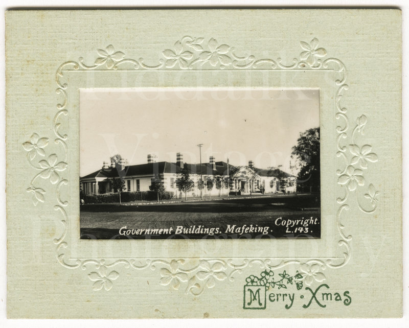 Government Buildings Mafeking Small Christmas Card Photo 1934 South Africa