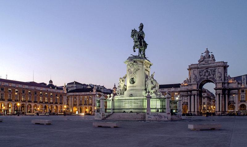 A Praça do Comércio em 2003