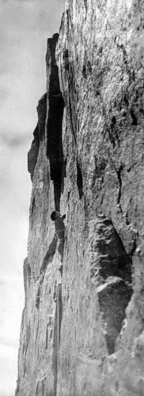 2nde ascension** de la voie Abadie à la Petite Aiguille dAmitges par R. Ollivier