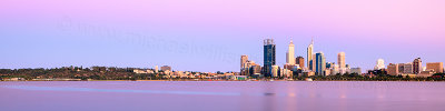 Perth and the Swan River at Sunrise, 25th December 2012