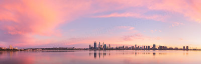 Perth and the Swan River at Sunrise, 6th July 2013