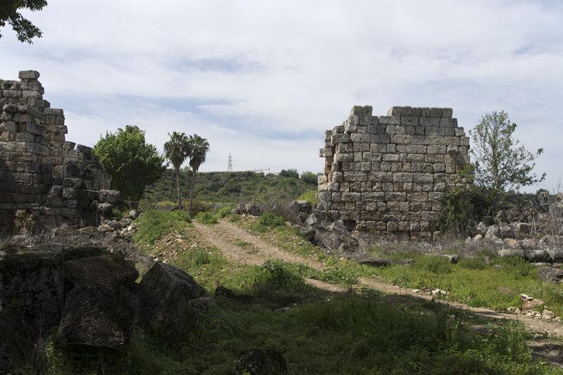 Perge Wall near Roman Gate march 2018 5926.jpg