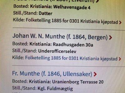 Johan Wilhelm Normann Munthe - Krigsskole elev - Oslo