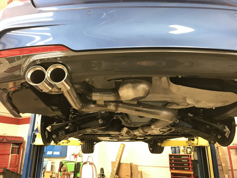 BMW M Performance exhaust system Active Sound for diesel