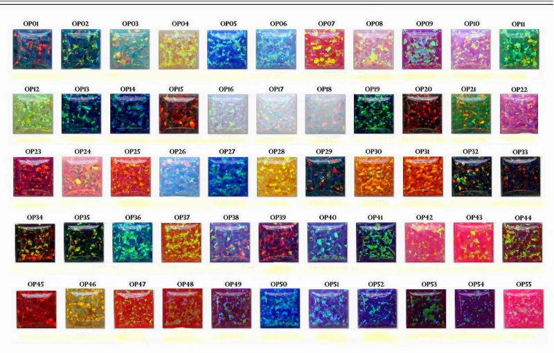 Cut Slab Lab Opal Color Chart