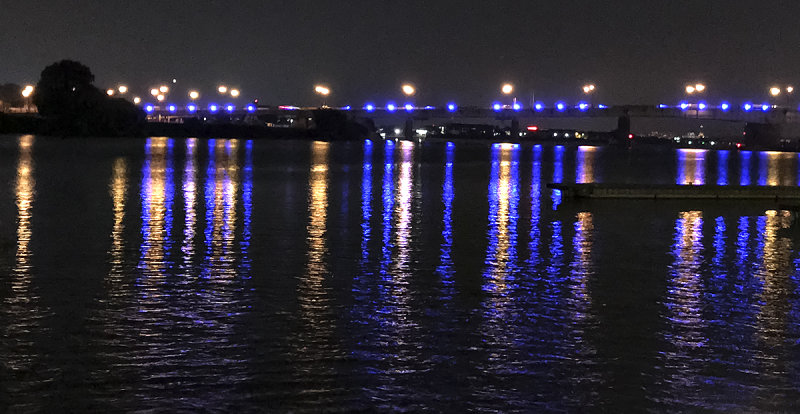 iPhone capture of the Anacostia River