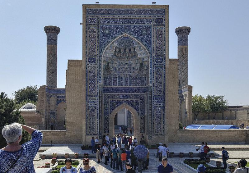 Gate front, Gur-e-Amir