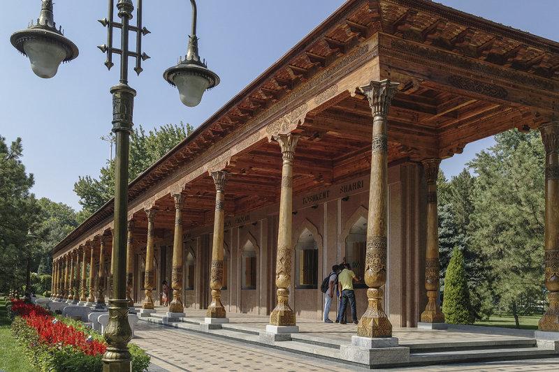 At Memorial Square, Tashkent