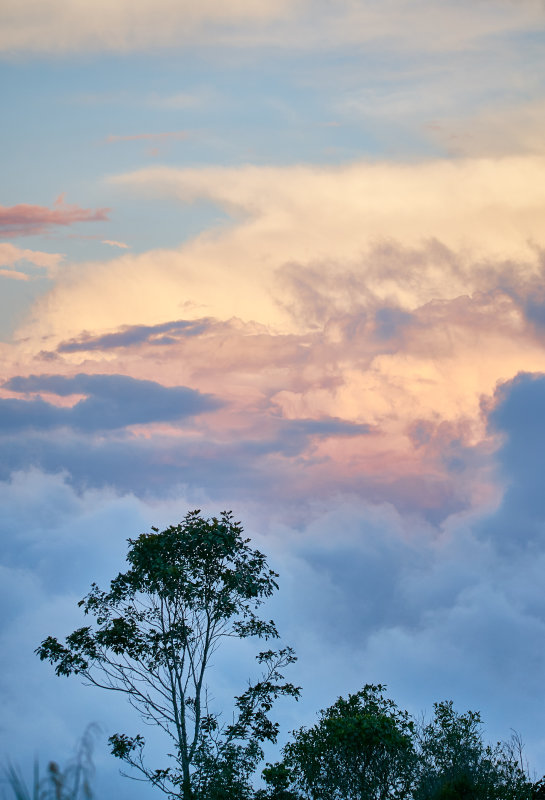 Evening sky from the flanks of Mount Hagen