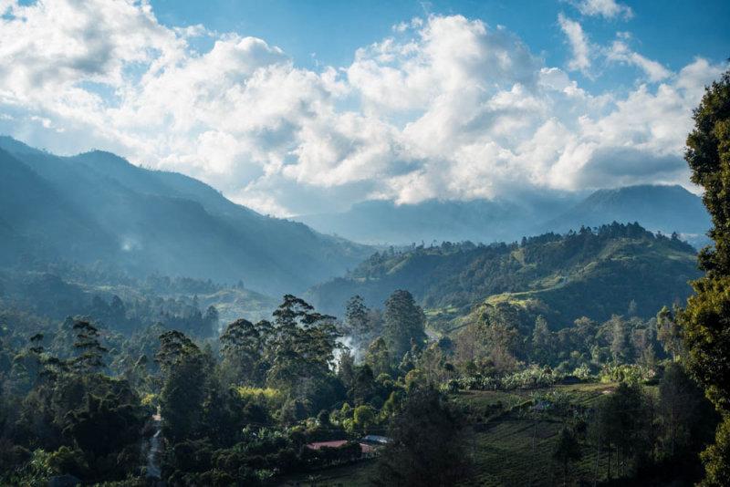 The abundantly fertile Nebilyer Valley, Mount Hagen in cloud, Magic Mountain to the right