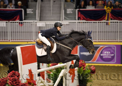 Ali Ramsy riding Casino at the McKee Family International Jumper Competition at the Royal Horse Show Ricoh Coloseum Toronto Cana