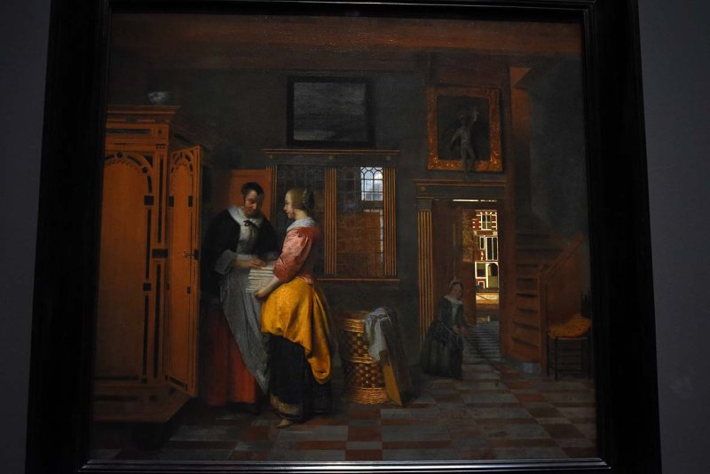 Interior with Women beside a Linen Cupboard (1663) - Pieter de Hooch - 4438