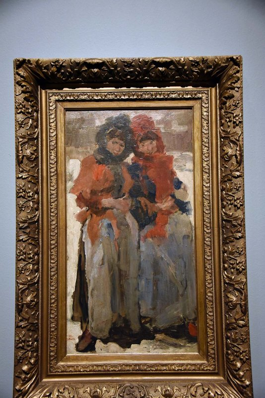 Two Young Women in the Snow (1890-1894) -  Isaac Israels - 4925