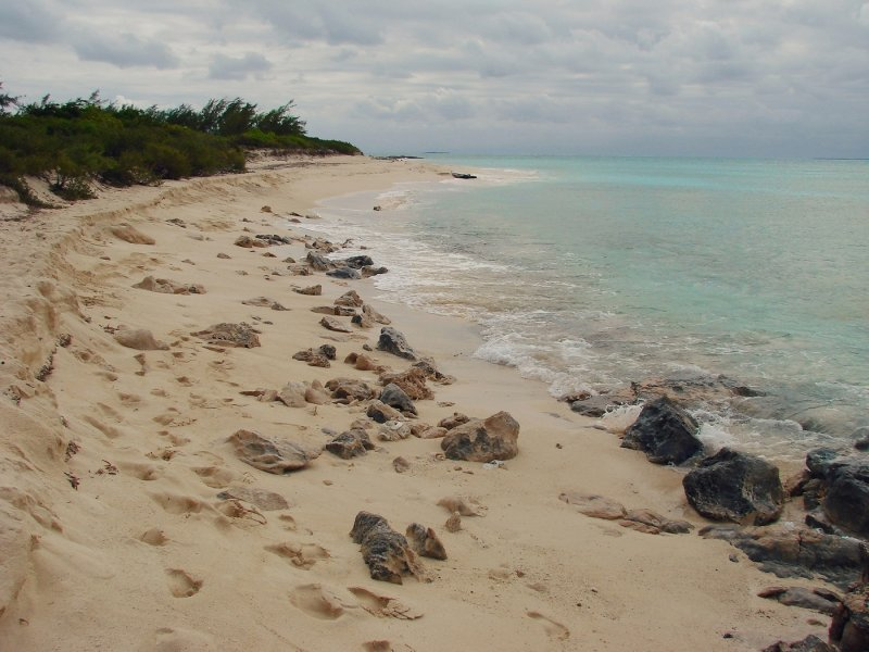 empty Grand Turk beach