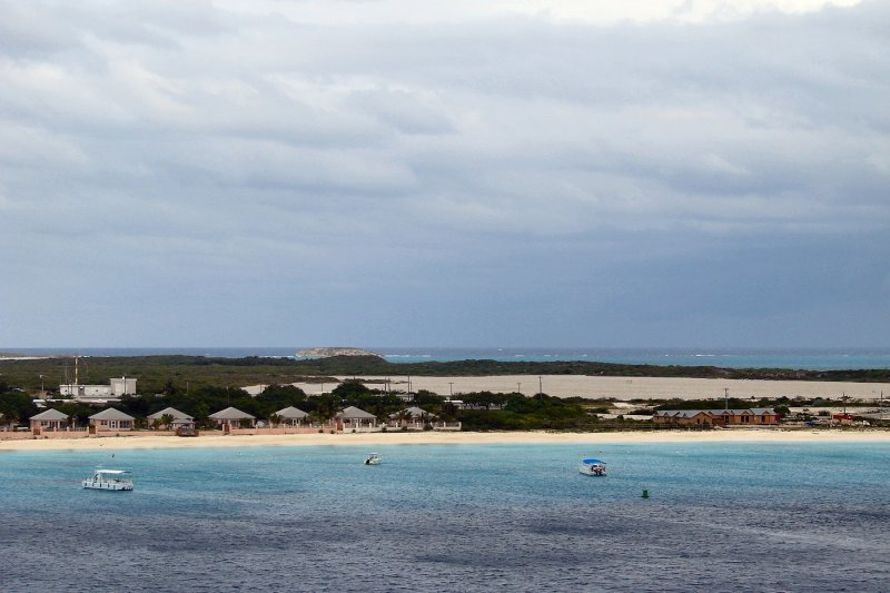 Grand Turk salt flats behind the port