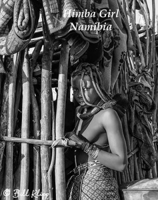 Himba Girl, Serra Cafema B&W  10a