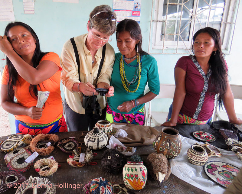 Embera women with Michele