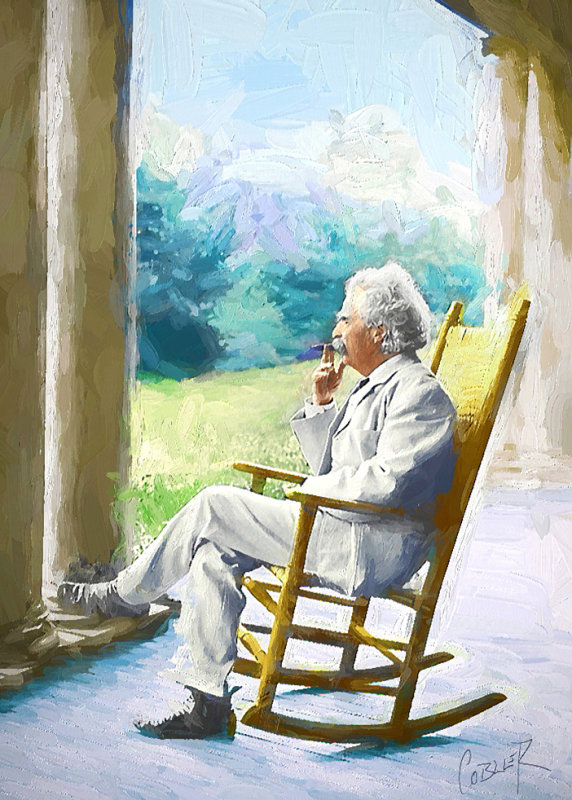 Mark Twain With Cigar