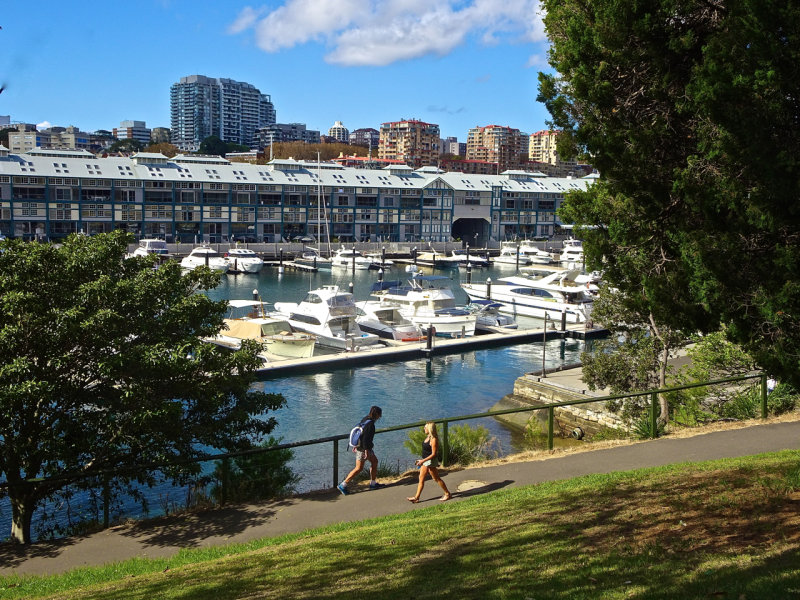 Old Woolloomooloo Wharves, viewed from approach to the Royal Botanic Gardens