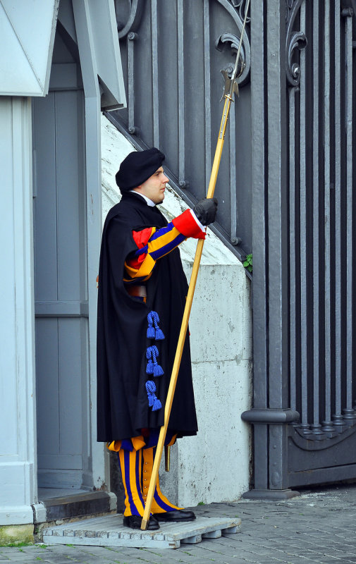 Popes Swiss Guard in Vatican