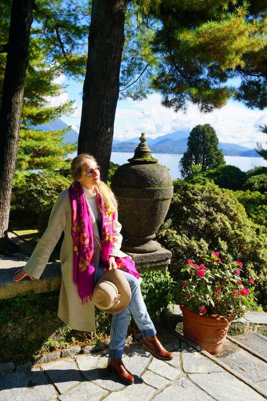 Pretty Italian in Gardens of Borromeo Castle