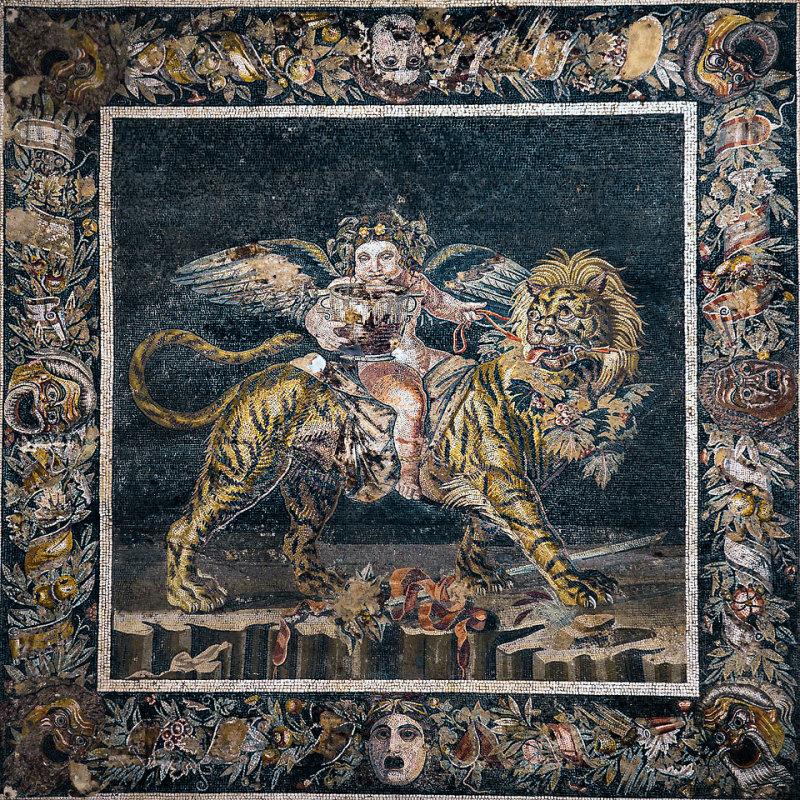 Bacchus, Roman Mosaics