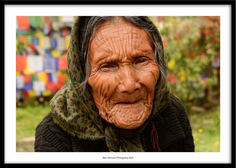 Old lady at the sacred lake, Rewalsar, India 2015