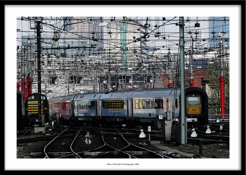 Web on the railway, Brussels, Belgium 2006