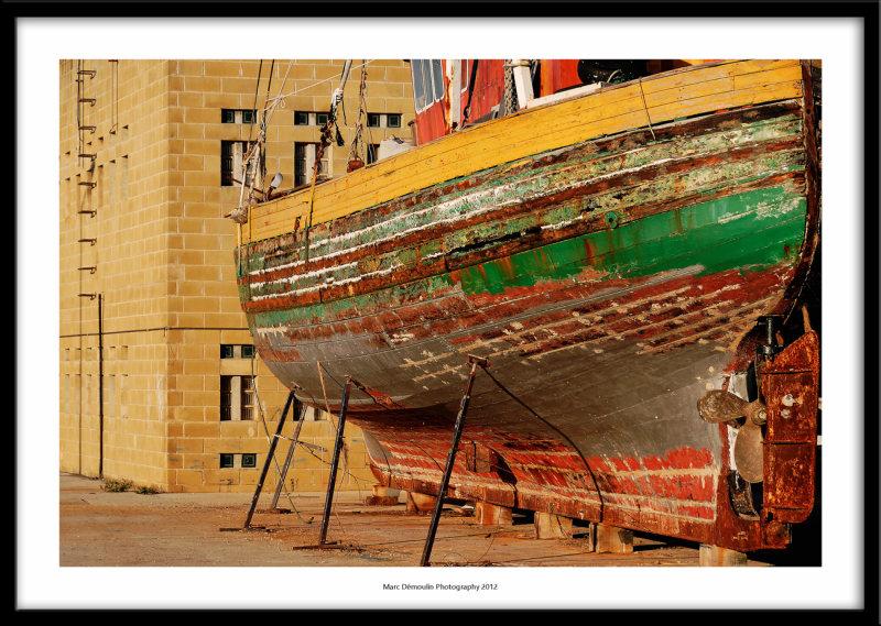 Boat under repair, Nazare, Portugal 2012