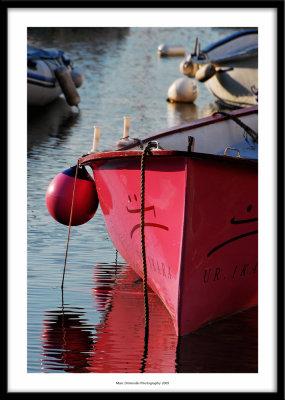 Pink boat, Socoa, France 2009