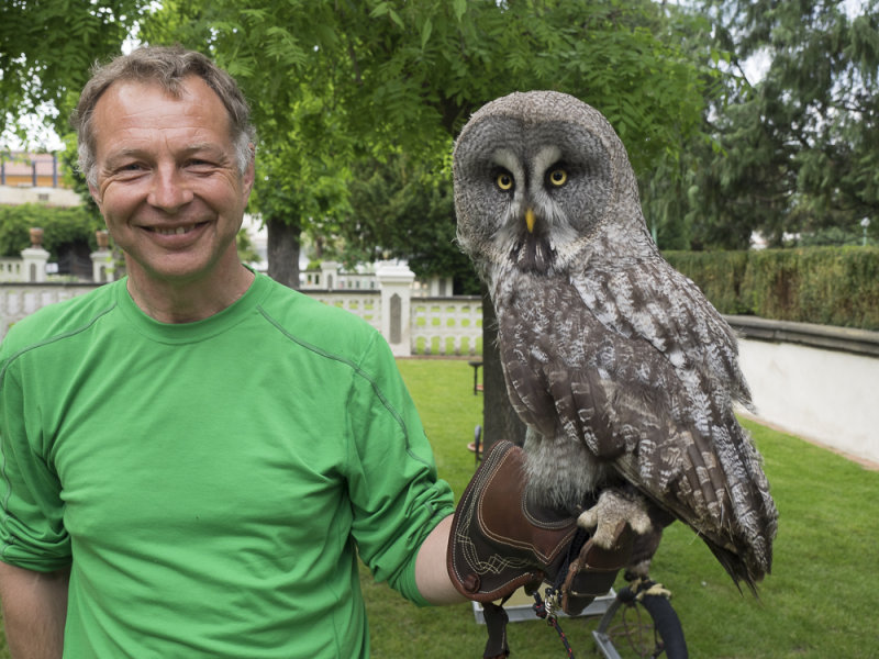 self-portrait with owl