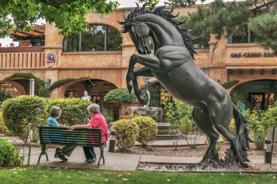 Taking art for granted, Tlaquepaque Arts and Crafts Village, Sedona, Arizona