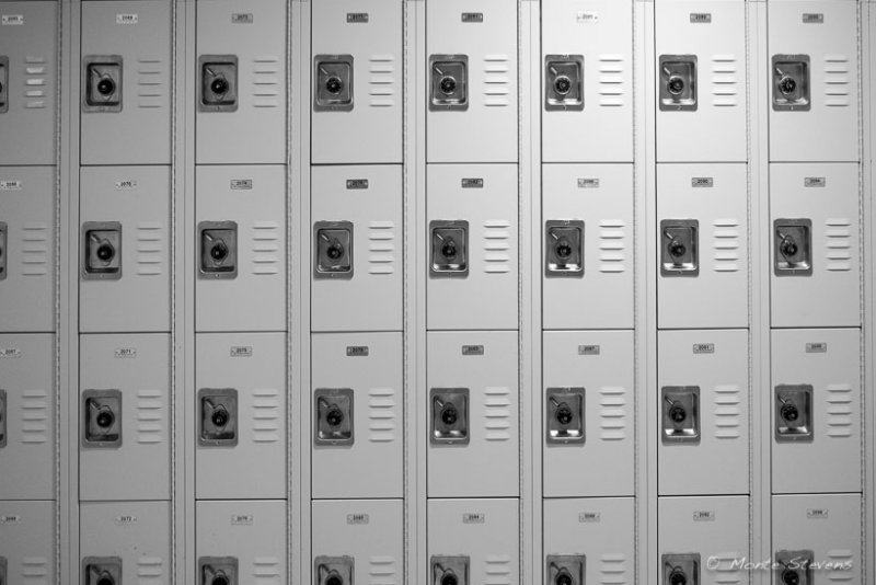 Lockers on Campus