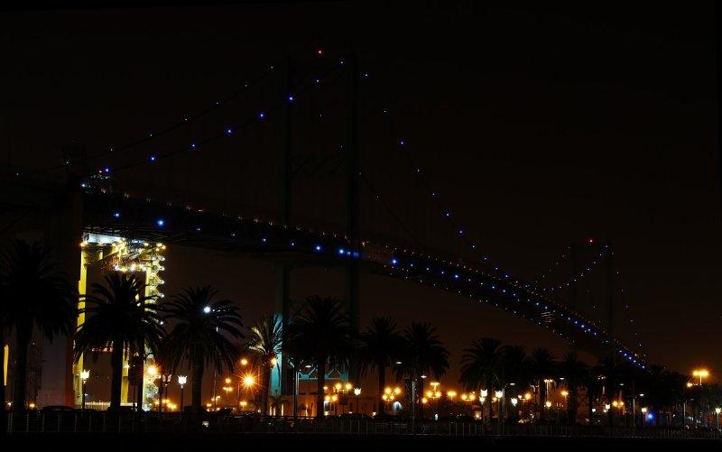 The Vincent Thomas Bridge, With Starburst Lights