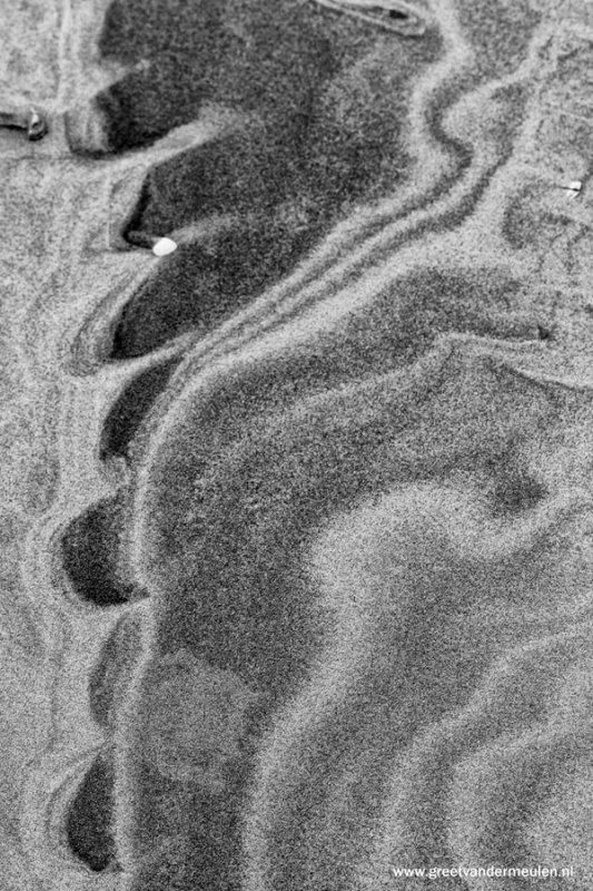 2N9B1736 zand tekening Oost Terschelling