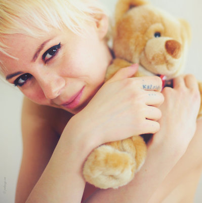 Fluffy little teddy bear.