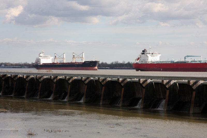 January 28 2019  River seeping through Spillway locks